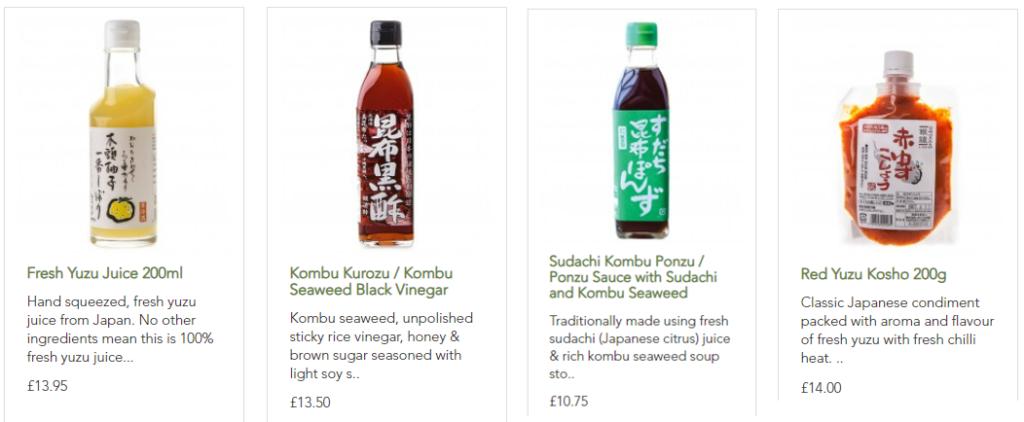 JAPANESE INGREDIENTS -こだわりの日本食材1