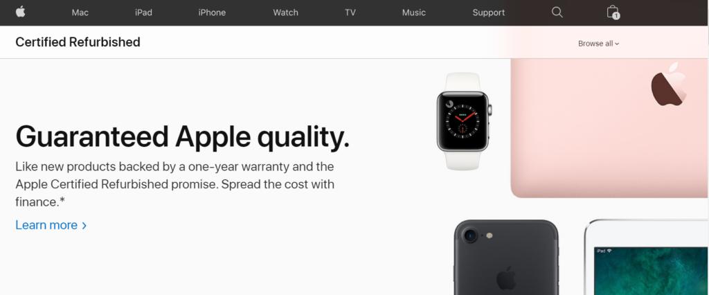 方法② Apple Refurbished 製品を選ぶ