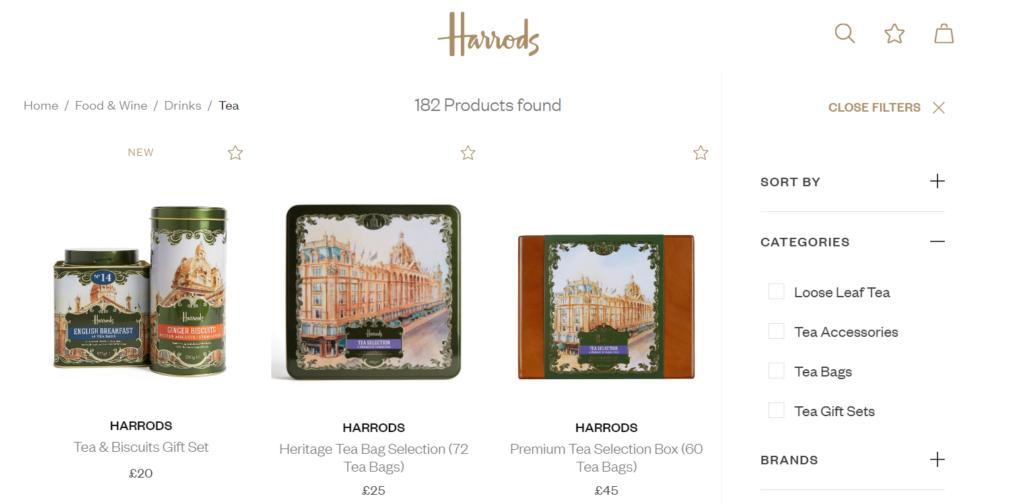 Harrodsブランドの紅茶