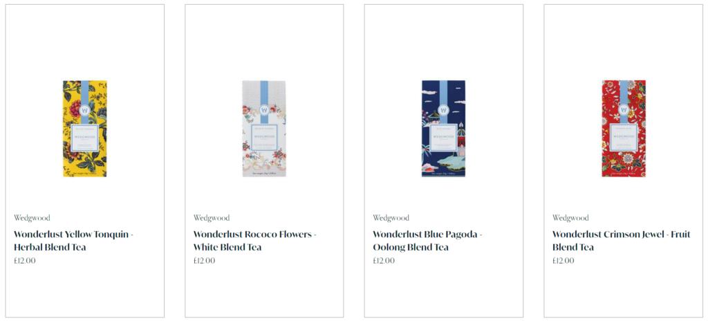 陶器と同じくカラフルなパッケージ、Wedgwoodの紅茶に注目