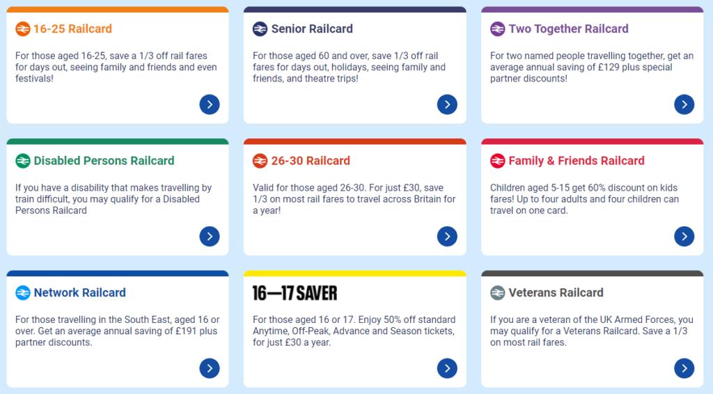 レイルカード(Railcard)を購入する ※長期滞在で頻繁に電車を利用する方向け
